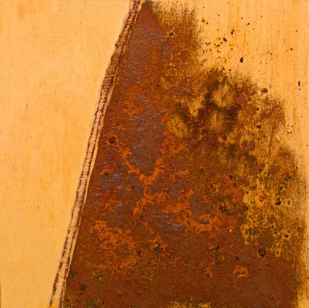 ROST-15-Serie-6-1-7-(1),-18x18cm,-Metall-auf-Holzplatte,-2011