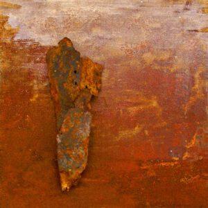 ROST-15-Serie-6-1-7-(7),-18x18cm,-Metall-auf-Holzplatte,-2011
