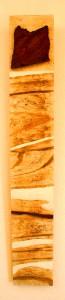 ROST 19, 16x103,5cm, Mischtechnik & Holz auf Holzplatte, 2011