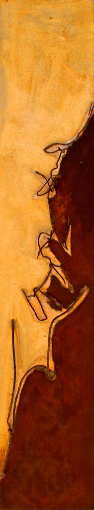 ROST 20, 18,5x96,5cm, Mischtechnik & Metall auf Holzplatte, 2011