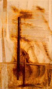 ROST-27,-37,5x63cm,-Mischtechnik-auf-Metall-auf-MDF-Platte,-2011
