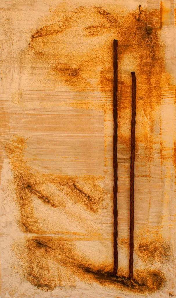 ROST-28,-37,5x63cm,-Mischtechnik-auf-Metall-auf-MDF-Platte,-2011