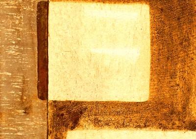 ROST 29, 29x52cm, Mischtechnik auf Holzplatte, 2011
