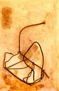 ROST-35,-45x69cm,-Mischtechnik-&-Metall-auf-Holzplatte,-2011
