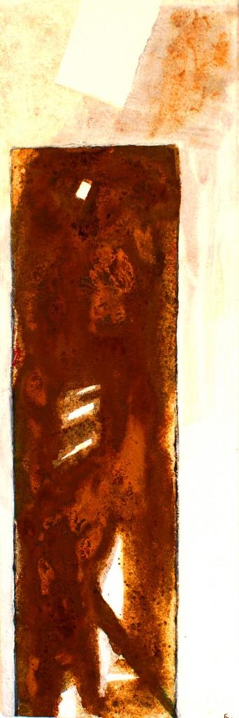 ROST 41, 30x90cm, Mischtechnik auf Leinwand, 2011