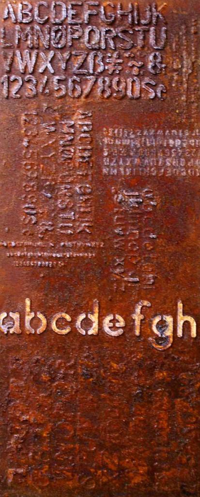 Rost-48,-30x72,-Mischtechnik-auf-Holz,-2011
