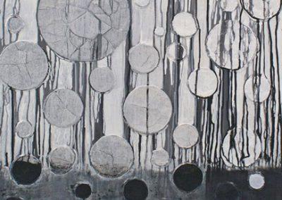 Titel: Nr.1a, 70x100cm, Mischtechnik auf Leinwand, 2019