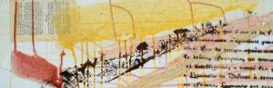 Titel: FamA12, 20x60cm, Mischtechnik auf Leinwand, 2020