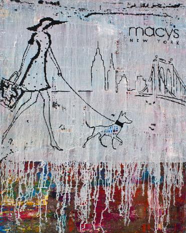 Titel: macys_New York, 80x100cm, Mischtechnik auf Leinwand, 2020
