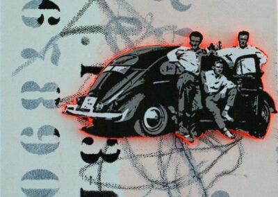 Titel: good time 2, 20x20cm, Mischtechnik/Collage auf Leinwand, 2021