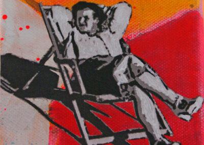 Titel: happy day 6, 10x10cm, Mischtechnik/Collage auf Leinwand, 2021