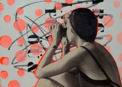 Titel: weit sicht, 30x30cm, Mischtechnik/Collage auf Leinwand, 2021
